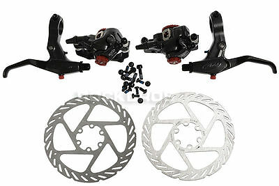 AVID BB7 Front & Rear Caliper 160mm G2 Rotor Speed Dial 7 SD7 Lever New