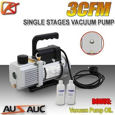 3CFM 1 Stage Refrigerant Vacuum Pump Refrigeration Gauges Tools Air Condition
