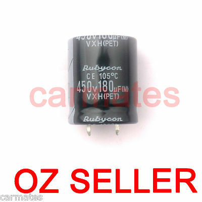 Capacitor 180uf 450V 105°C 30X30mm for Apple LCD Monitor Screen Repair Rubycon