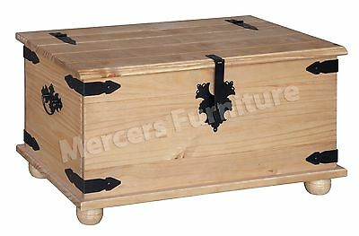 Corona Blanket Box Toy Box Storage Trunk Ottoman Solid Pine by Mercers Furniture