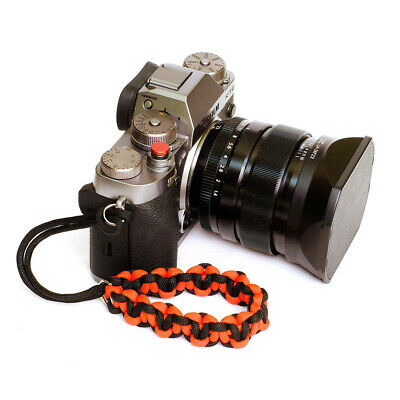 "Red ""Hearts"" Paracord Wrist Strap for DSLR Compact Cameras Fuji Canon Nikon Sony"