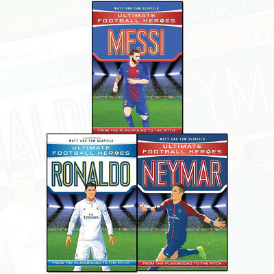 Ultimate Football Heroes Collection 3 Books Set Pack Messi, Neymar, Ronaldo Pack
