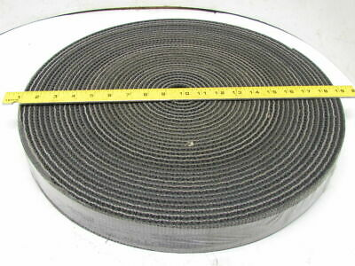 """1-Ply Rough Top Incline Conveyor Belt 2"""" Wide 80' Long 1/4"""" Thick Black Rubber"""