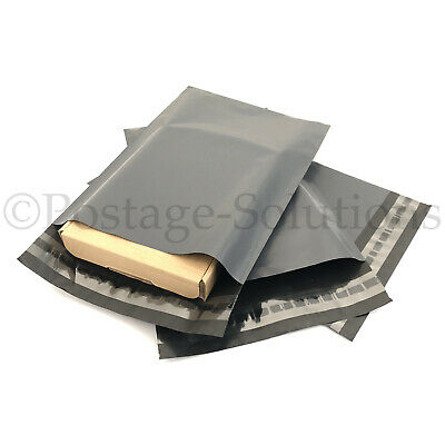 50 MIX MAILING GREY BAGS MIXED PARCEL PACKAGING 12 x 16 and 10 x 14 Cheapest