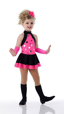 Pink Flourescent Jazz Dress Costume Dance SHAKE UP THE PARTY Child & Adult