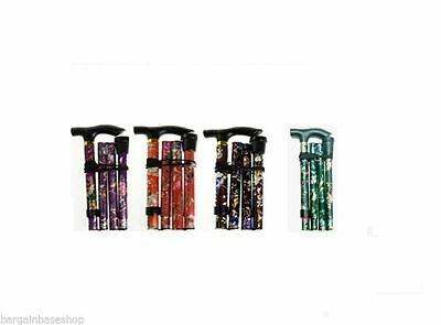 Adjustable Lightweight Easy Fold Aluminium Walking Sticks New