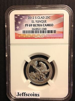 2012 S NGC PF69 Clad Proof EL YUNQUE NATIONAL FOREST STATE PARK QUARTER ATB Gift