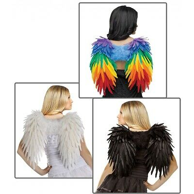 Feather Wings Adult Halloween Costume Fancy Dress