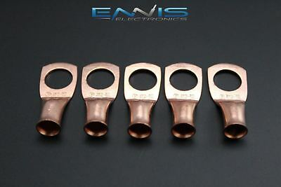 4 Gauge Copper 1/2 Ring 5 Pk Crimp Terminal Connector Awg Ga Car Eye Cur412