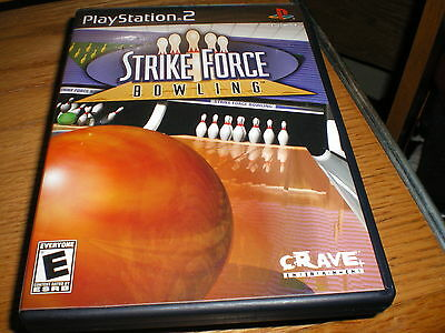 """PS 2 GAME """" STRIKE FORCE BOWLING ' VERY GOOD COND,COMPLETE"""
