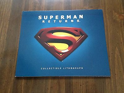 SUPERMAN RETURNS movie Collectible Lithograph