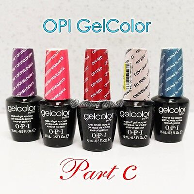 OPI GelColor PART C All New Soak Off Led UV Gel Lacquer Base Top Coat 15ml 0.5oz