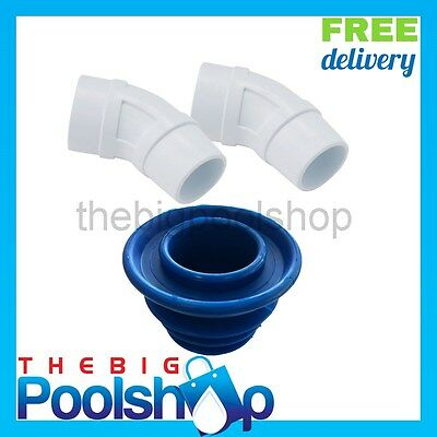Cuff and Elbow set for Skimmer Pool Cleaner Vacuum connection