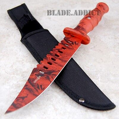 """12"""" Hunting Fixed Blade Tactical Combat Survival Knife w/ Sheath Bowie 732RC-M"""