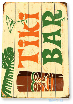 TIN SIGN Tiki Bar Rustic Kitchen Cottage Beach House Metal Sign Decor A177