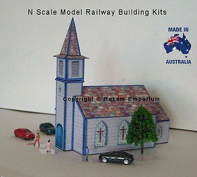 N Scale Church Model Railway Building Kit - NSC1