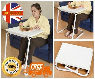 Portable Table Valet TV Dinner Laptop Tray Steel Tubes Height Adjustable