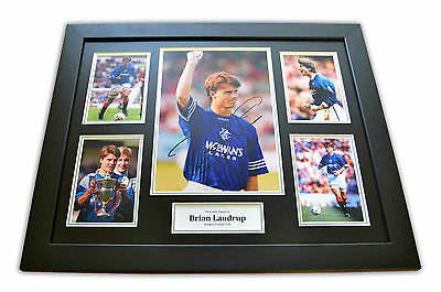 Brian Laudrup Signed Photo Large Framed Rangers Autograph Display Memorabilia