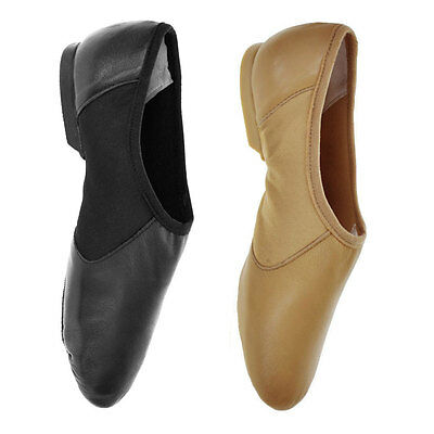 Starlite 'Hyper' Easy Slip On Leather Jazz Shoes - Black or Tan