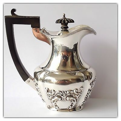 Solid Silver Embossed Water / Beer Jug CHESTER Nathan & Hayes 1902