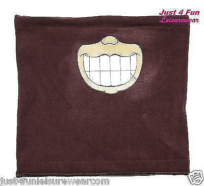FLEECE NECK WARMER kids boys girls BROWN GRIN neckwarmer