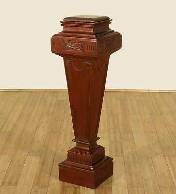 Antique Cherry Pedestal Plant Candle Stand Torchere