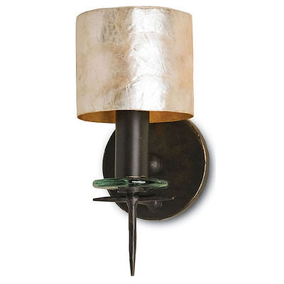 Theta Bronze Gold/Natural Capiz Shell Transitional Wall Sconce