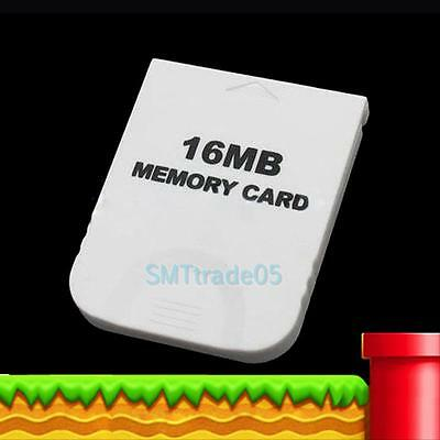 New 16MB White Memory Card for Nintendo GameCube Wii Game System Console