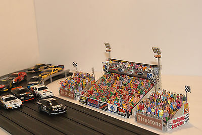 AFX / REVAMATIC + MODEL MOTORING 3 PIECE SLOT CAR GRANDSTAND SET has 333 PEOPLE