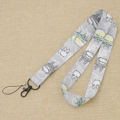 Totoro Nylon Neck Strap Lanyard Cell Phone Camera ID Card Keychain Anime Gift