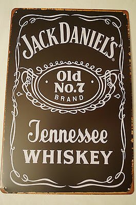 RETRO STYLE TIN SIGN - Jack Daniels - Old No. 7.