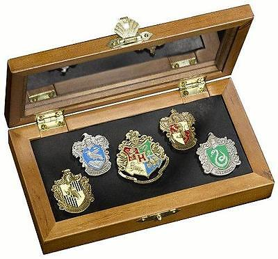 Harry Potter: Official Warner Bros Hogwarts House Pin Collection In Wooden Box