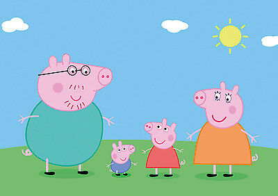 Peppa Pig Giant Poster - A0 A1 A2 A3 A4 Sizes