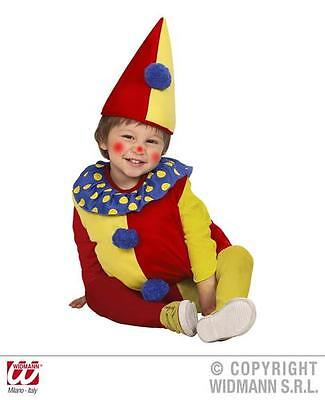 Childrens Clown Fancy Dress Costume Circus Halloween Outfit 2-3 Yrs