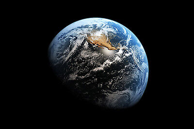 Planet Earth From Space Giant Poster - A0 A1 A2 A3 A4 Sizes