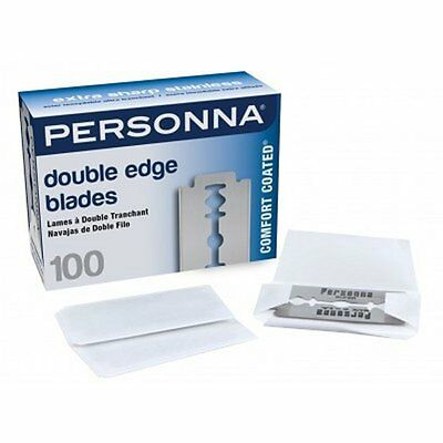Personna 100 Pack Stainless Steel Double Edge Safety Barber Shaving Razor Blades