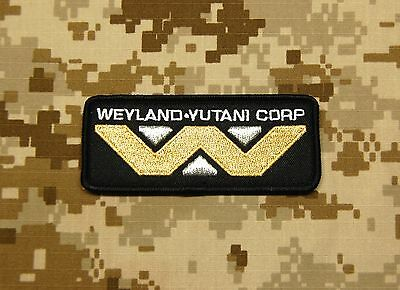 Aliens WEYLAND YUTANI Corporation Patch VELCRO® Brand Fastener Backing