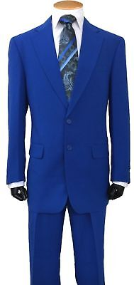New Men's 2Pc Single Breasted  Basic Suit Two Button 7 Colors 38R~56L