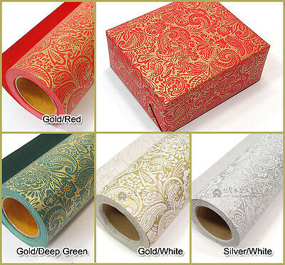 [Roll wrapping  paper] 13M 1Roll for Christmas gift, Birthday : Paisley