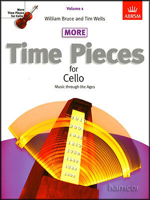 More Time Pieces for Cello Volume 1 ABRSM Classical Sheet Music Book
