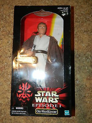 OBI WAN KENOBI by Hasbro Collectable UNOPENED in Box Episode 1 with Light Sabre