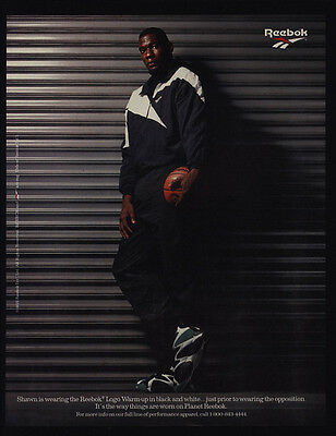 1995 SHAWN KEMP - REEBOK Logo Warm Up Clothes & Basketball Shoes VINTAGE AD