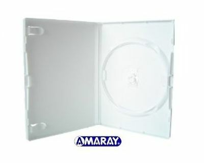 10 Single Standard White DVD Case 14 mm Spine New Empty Replacement Amaray Cover
