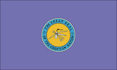 3x5 in Choctaw Nation Flag Sticker -native american tribe indian logo seal decal