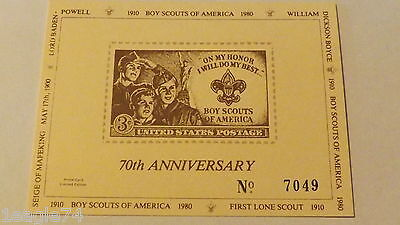 Boy Scout 70Th Anniversary Card William D Boyce Unopened Package