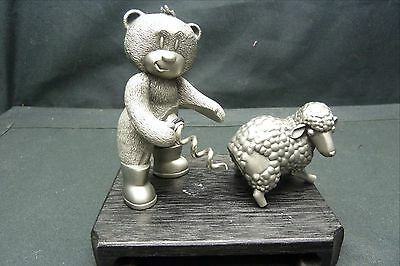 Naughty Corkscrew…. ..bear With Sheep…bad Taste Bears..pewter..new In Box