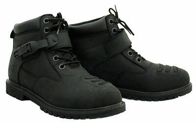 Rjays Terrain 2 Boots Black 43 (Size 9 ) Suit All Motorcycle Riders