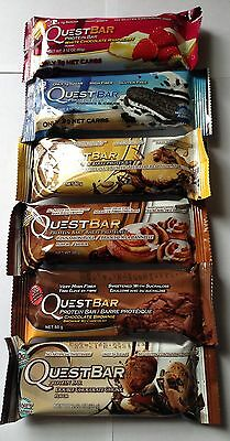 Quest Nutrition, 6 Protein Bars, Variety pack, Brand new stock