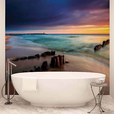 WALL MURAL PHOTO WALLPAPER PICTURE (1027P) Sea Sunset Beach Coastal