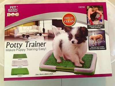 New Portable Indoor Training Toilet Pet Potty Grass Puppy Dog Trainer Mat Patch